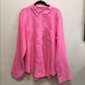 Lilly Pulitzer 100% Linen Shirt